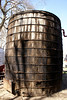 Wood oil tank display at Kansas Oil Museum